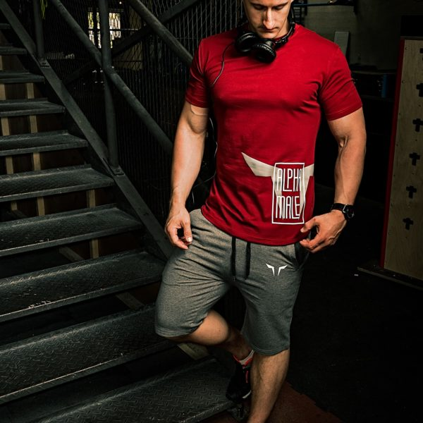 red alpha gym tee