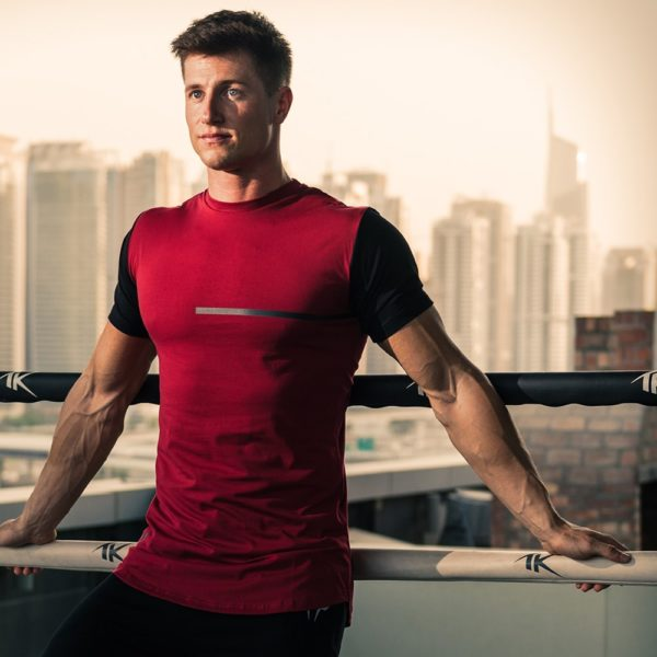 red urban fit tee