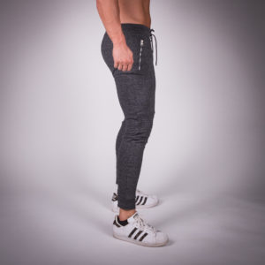 Ribbed Series Jogger Pants Grey