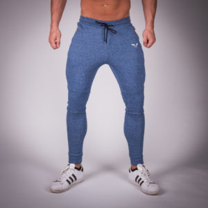 Ribbed jogger pants blue