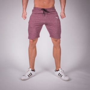 ribbed shorts maroon
