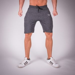 Ribbed Shorts Melange Grey