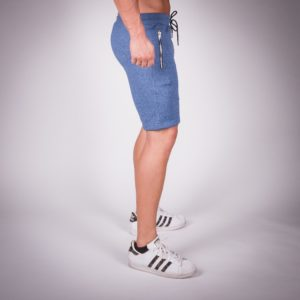 ribbed shorts blue