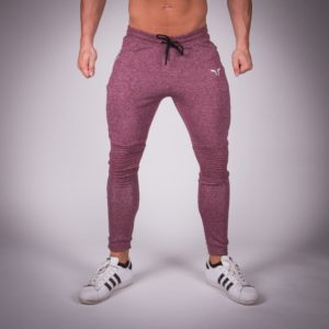 Ribbed Series Jogger Pants maroon