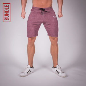 Ribbed-Shorts-Maroon