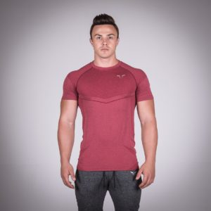 Seamless Dry-Knit Tee - Bali Red in Half Sleeves