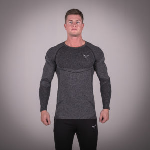 Seamless Dry-Knit Tee - Melange Grey in Full Sleeves