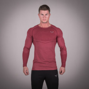 Seamless Dry-Knit Tee - Bali Red in Full Sleeves