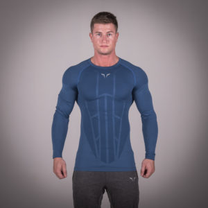 Seamless Spyder Tee - Cobalt Blue in Full Sleeves