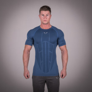 Seamless Spyder Tee - Cobalt Blue in Half Sleeves