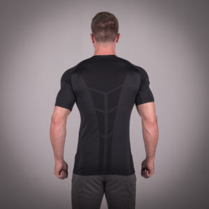 Seamless Spyder Tee - Black in Half Sleeves
