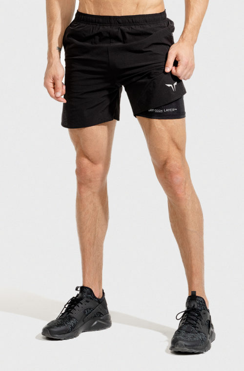 2in1 Dry-Tech Shorts Black