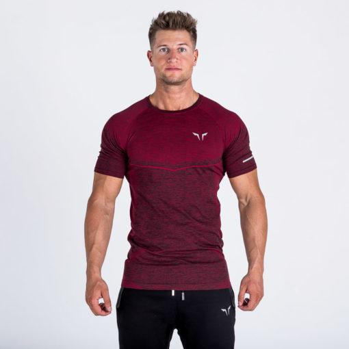 Seamless Dry_knit Tee Port Red