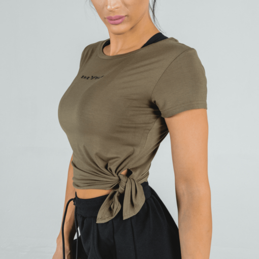 She-Wolf Crop Top - Olive