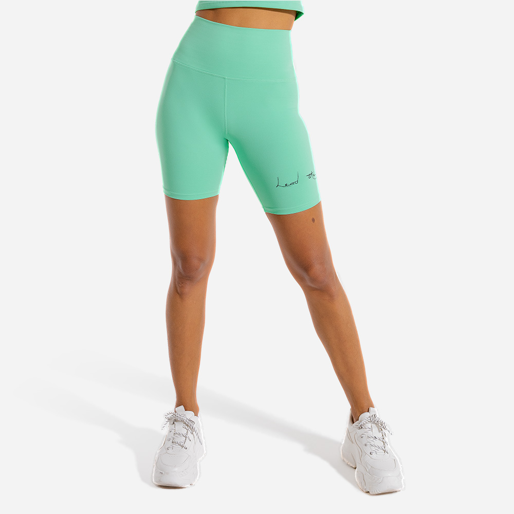 Vibe Cycling Shorts - White Athleisure Shorts for women by